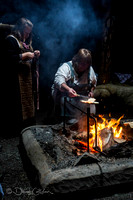 Cooking flatbread - L'anse aux Meadows - Newfoundland