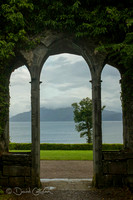 Gate in the ruins of Armadale castle - Skye - Scotland
